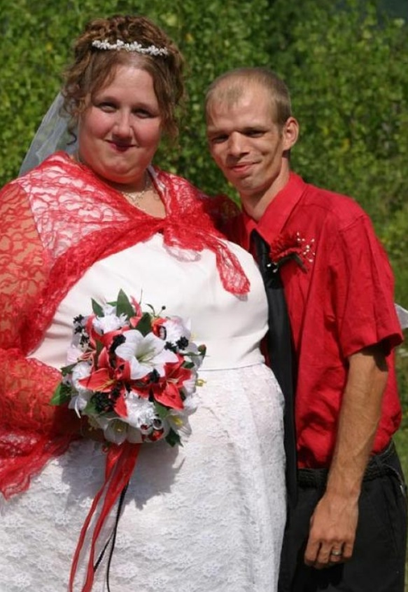 Ugly bride and groom